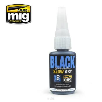 Black Cyanoacrylate Slow Dry