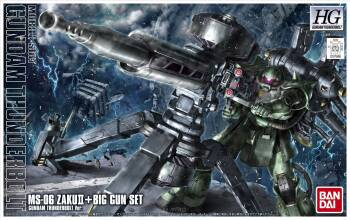 HG 1/144 ZAKU II + BIG GUN SET (GDM THUNDERB VER.)